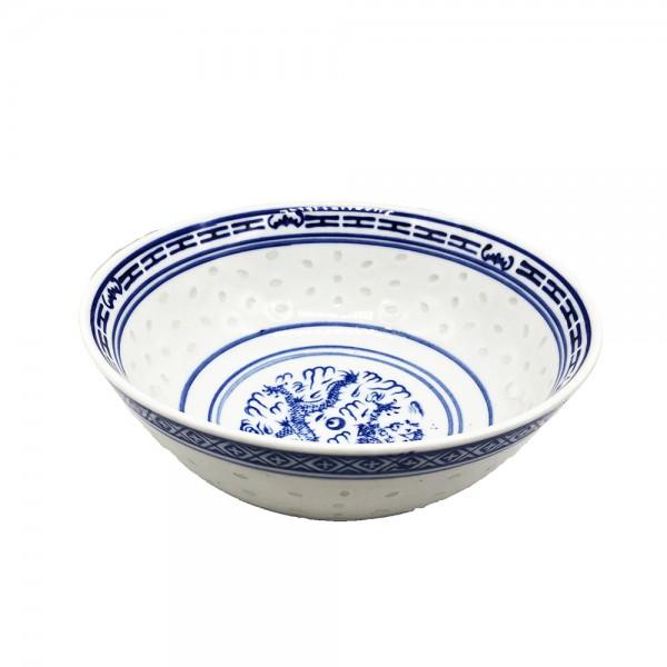 Porzellan Schüssel mit blauem Muster