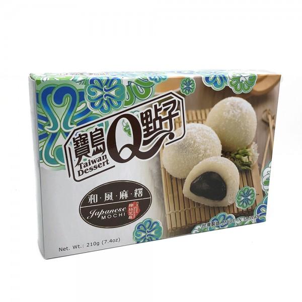 Sesam Mochi mit Kokosflocken Reiskuchen Taiwan Dessert 210g