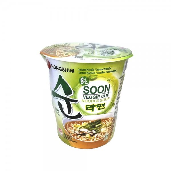 Soon Veggie Ramyun Nudelsuppe Cup Nongshim 67g