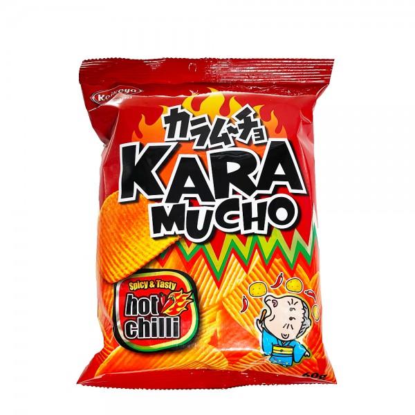 Kara Mucho Kartoffelchips Hot Chili (geriffelt) Koikeya 60g