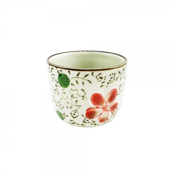 Teetasse Blüten Muster 130ml