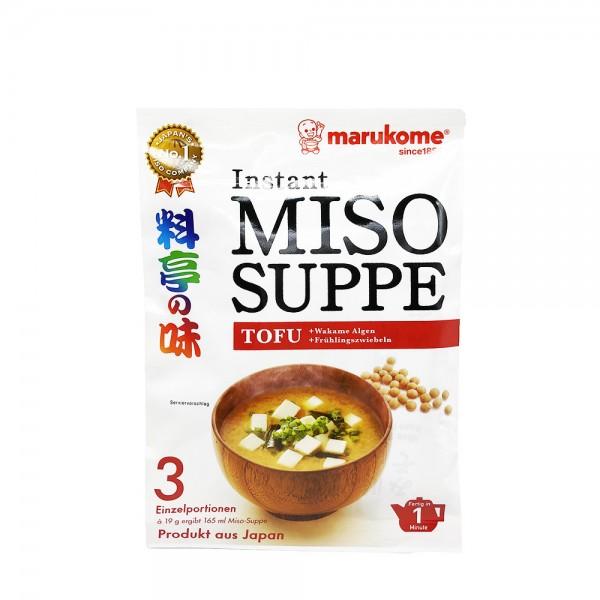 Instant Miso Suppe mit Tofu Marukome 57g