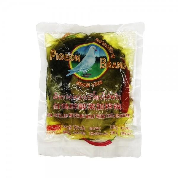 Eingelegter Senfkohl mit Chili Pigeon 350g