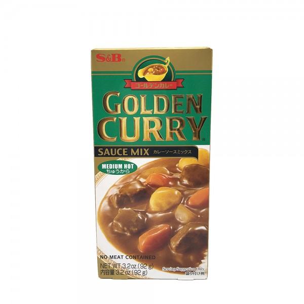 Golden Curry Sauce Mix medium hot 92g S&B