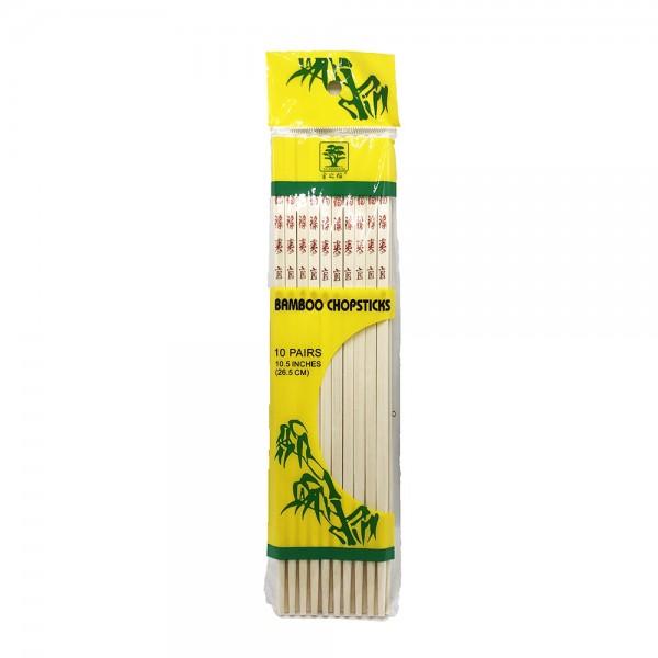 Bambus Essstäbchen 26,5cm Golden Banyan (10 Paar)