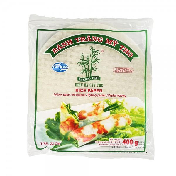 Tufoco Reispapier für Sommerrollen 22cm Bamboo Tree 400g