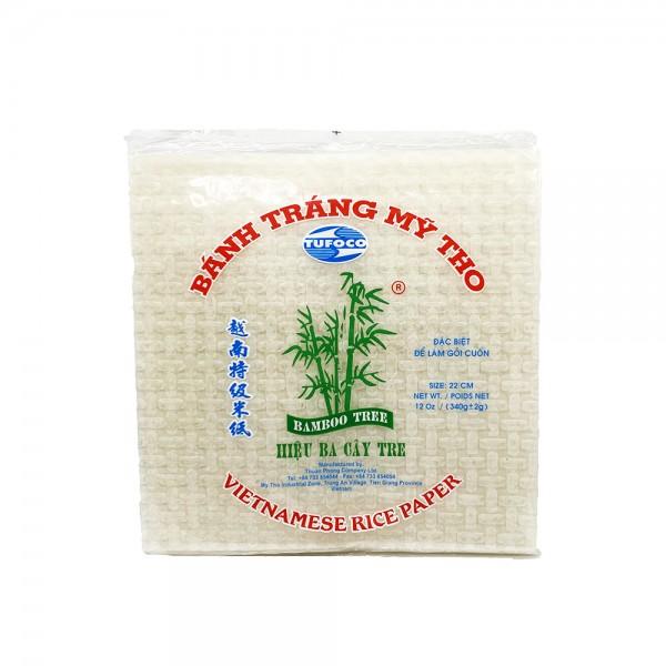 Tufoco Reispapier für Sommerrollen viereckig 22cm Bamboo Tree 340g