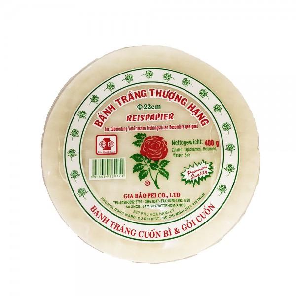 Reispapier für Sommerrollen 22cm Gia Bao 400g