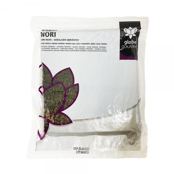 Yaki Sushi Nori Blätter Globe Gourmet 110g (50 Blätter)