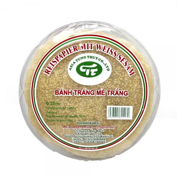 Reispapier Cracker mit weißem Sesam Asia Tung Thuy 400g