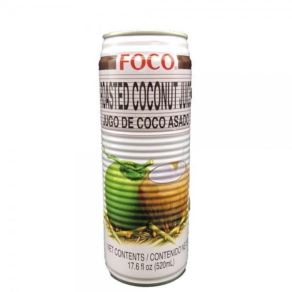 Kokoswasser geröstet mit Kokosstückchen Foco 520ml