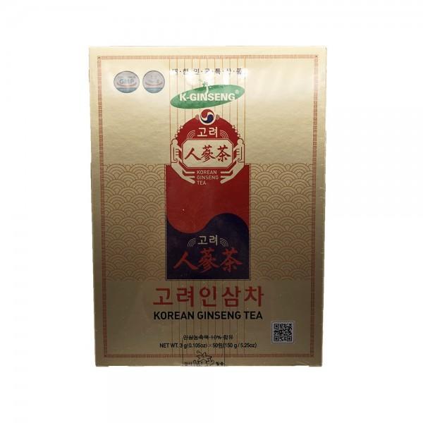 Instant Tee mit weißem Ginseng Extrakt Korean Ginseng 150g (50x3g)