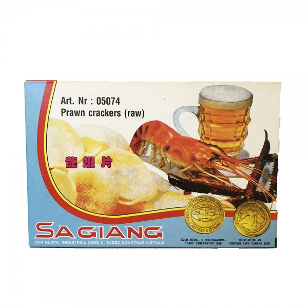 Krabbenchips roh Sa Giang 200g