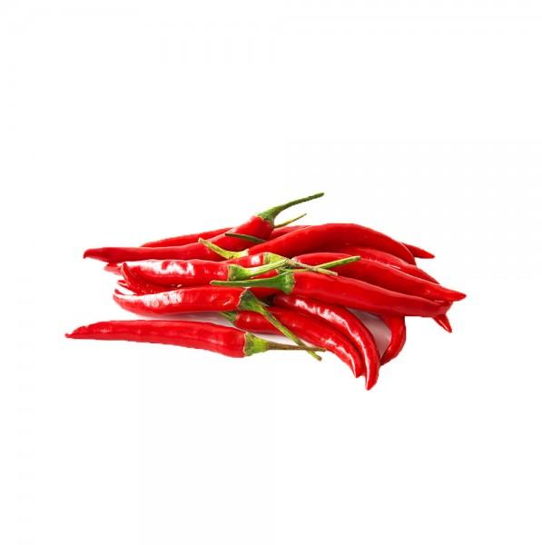 Frische rote Chilischoten 100g aus Asien